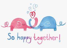 Margaret Berg Art: Heart Elephants