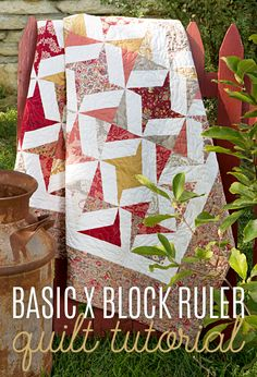 Make a Basic X Block Ruler Quilt with Jenny Doan of MSQC!