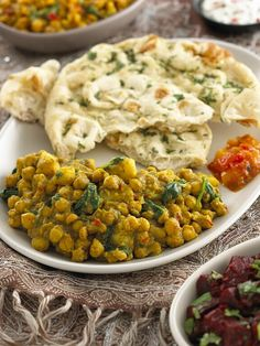 Chickpea, Potato & Spinach Curry by Vegetarian Cookery School, via Flickr