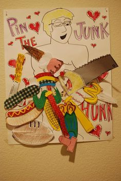 Pin the Junk on the Hunk... LOL I would change this to a picture of a hollywood hottie.... and make it my own! for the bachelorette party!