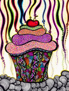 would like this on a simpler scale on ATC zentangle cupcake
