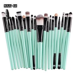 Cinidy 20 pcs Makeup Brush Set tools Makeup Toiletry Kit Wool Make Up Brush Set  Perfect Brushes- Super Professional Brush Set,only belong to you- 20 Count !     All the brushes were made of ultra-fine synthetic hair, so all bristle will stay in good condition for a long time.     Taking care of a professional animal hair makeup brush set is a tough job. So a synthetic hair brush kit will be a perfect option for your makeup tour.     100% Brand New and High Quality, All Brushes made ..