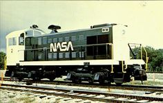    SPACE TRAIN! NASA's Alco S-1 switcher Number 2, one of two Alco's used by NASA at Cape Canaveral, Florida to transport Missiles from the assembly building to the launch pads.