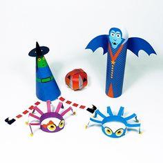 Decorazioni di Halloween da scaricare e realizzare con i bambini:http://www.piccolini.it/piccolini-time/#avventura/halloween/