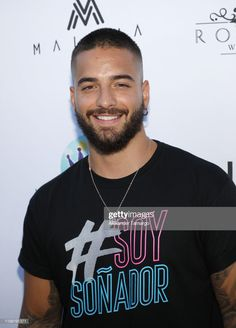 Maluma attends the El Arte de los Suenos Foundation Cocktail Party on July 2019 in Miami, Florida. (Photo by Alexander Tamargo/Getty Images) Beard Styles For Men, Hair And Beard Styles, Beautiful Men Faces, Gorgeous Men, Estilo Miami, Rib Tattoos For Guys, Maluma Pretty Boy, Latin Artists, Becky G