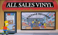 Vinyl record music The Simpson