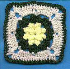 Yellow Puff Flower Granny  http://www.allfreecrochet.com/Granny-Square-Afghans/Yellow-Puff-Flower-Granny/ml/1