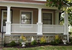 craftsman porch railing | Porch With Pillars                                                                                                                                                      More