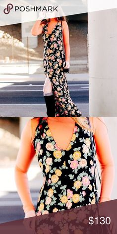REFORMATION SUMMER MAXI DRESS All your wildest floral dreams come true 🌸🌸🌸 Gorgeous maxi floral dress from Reformation (No Turtleneck) in multicolor print. 🌿 Eco conscious and perfect for summer 💦 Leg Slit, plunging V neck, a little worn. Fits LARGE Reformation Dresses Maxi