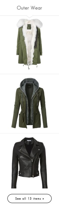 """Outer Wear"" by phosporos-starr on Polyvore featuring outerwear, coats, jackets, chaquetas, fur, green, fur hood parka, fur coat, long parka coats and green fur coat"