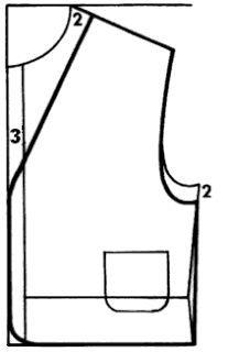 Trazo del chaleco | El costurero de Stella