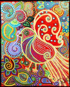 Blogs de Hoy Dallas: Una bengalí que resalta los colores en su arte, para brindar felicidad