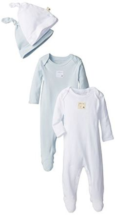 418cbaff5 Burt's Bees Baby-Boys Newborn 2 Bee Essentials Solid Footed Coveralls 2 Bee  Essentials Solid