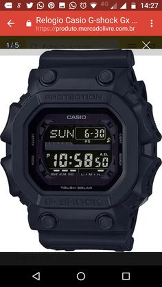Resposta sobre: Relogio Casio G-shock Gx 56bb Tough Solar All Black Gx56