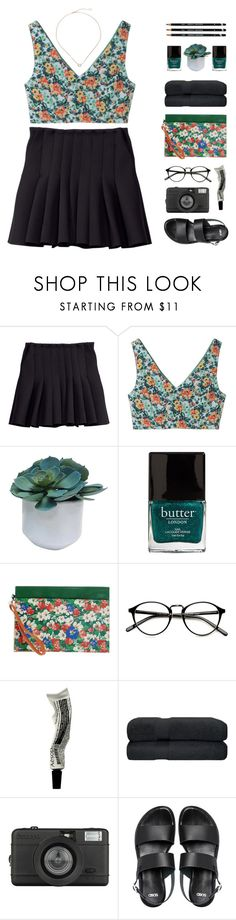 """""""floral coachella"""" by via-m ❤ liked on Polyvore featuring H&M, Aula Aila, Threshold, Butter London, Shop ★ Art, Aesop, Lomography, ASOS and Kendra Scott"""