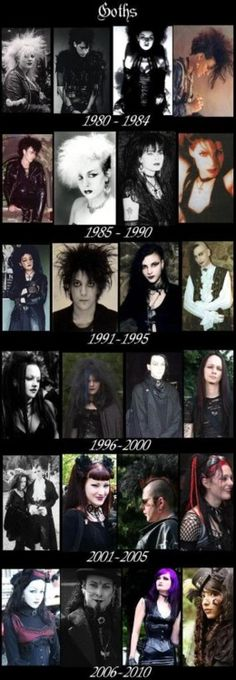 Gen X memory: being goth When it was alternative. Goth through the ages.