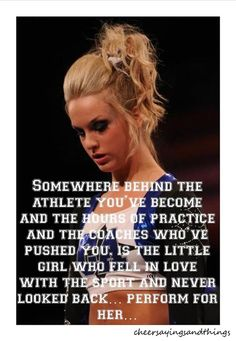 Perform for her <3. Love this saying, don't quite like the cheer leading part though...:)