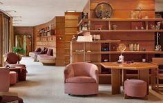frank lloyd wright living room - Google Search