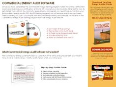 Click Here: http://diygreenpowerforhome.com/Energy_Audit_Institute.php         http://diygreenpowerforhome.com     What Commercial Energy Audit Software Is Included? The commercial energy audit software is a collection of the forms and spreadsheets you need to have to do a small business / facility audit. For more information: http://diygreenpowerforhome.com/Energy_Audit_Institute.php