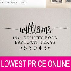 Return Address Stamp Personalized Custom Stamp Self Inking | Etsy