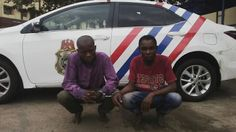 Ifeanyi Chukwudile's Blog: (Photos) Two robbers arrested at Cele Bus-stop, al...