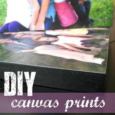 Ginger Snap Crafts: tutorial {diy canvas prints}