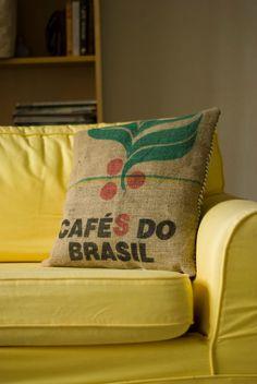 Burlap Coffee Sack Scatter Cushion