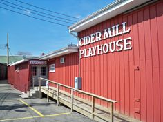 The Cider Mill Playhouse in Endicott Play Houses, The Good Place, Entrance, Garage Doors, Winter, Places, Outdoor Decor, Home Decor, Winter Time