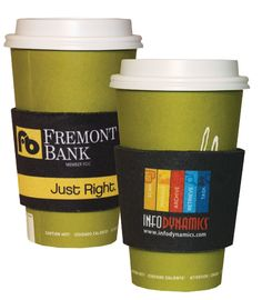 Wake Up to your brand while enjoying your hot coffee wrapped with a printed coffee sleeve
