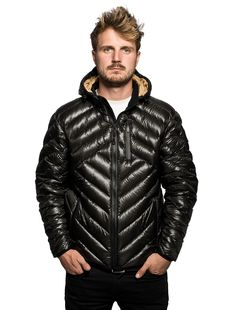 COLDSMOKE AURORA DOWN JACKET - $495  The style of chevron quilting, durability of mini ripstop nylon, and lightweight warmth of 650 Down fill, make the Aurora Down Jacket your new best friend. Stuff the Aurora into its self-packing pouch and take it anywhere for on demand protection against wind, water and cold. Functional details include waterproof zippers, reinforced visor, zippered internal gear pockets, and snug elastic bound openings at cuffs and waist.