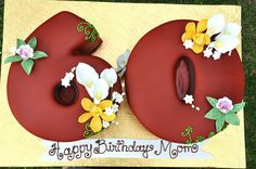 """Sculpted """"60"""" Cake by thecakemamas, via Flickr 60th Birthday Cakes, Birthday Bash, Big Cakes, Fancy Cakes, Fantasy Cake, Butter Icing, Number Cakes, Birthday Numbers, Cake Pictures"""