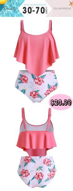 Women's swimwear & beachwear, Tankinis & Swimsuits! #dresslily #swimwear # #swimsuit #tankinis Floral Tankini, Swimsuits For Teens, Modest Swimsuits, Beachwear, Women's Swimwear, Bra Styles, Dress Shoes, Shoes Heels
