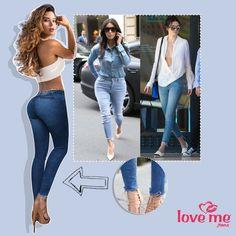 Los jeans con botas deshilachadas continúan siendo tendencia y es uno de los estilos favoritos de las famosas… Encuéntralos en la nueva colección de LOVE ME JEANS.