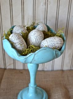 Book Paper Easter Eggs