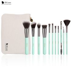 DUcare 11pc Ultra Stylish Makeup Brush Set with Travel Sized Bag