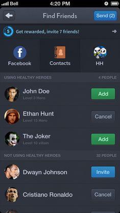 Level, rewards - facebook friends using this app.