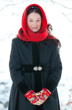 Traditional woman's winter garment used in Valdres, Hallingdal and Numedal, Norway