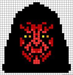 Darth Maul Star Wars perler bead pattern