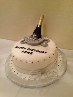 Daddy's Fabulous Cake made by Celia! Fondant Cakes, Cupcake Cakes, Birthday Cakes For Men, 50th Birthday, Calumet Bakery, Liquor Cake, Cocktail Cake, Gravity Cake, How To Make Cake