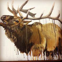 Elk painting I did a few months ago