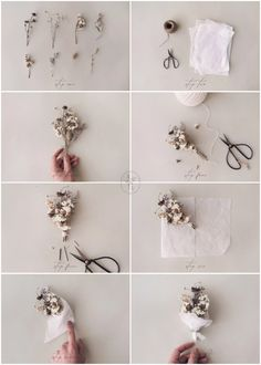 How To Make Mini Dried Flower Bouquets – Adored Vintage Dried Flower Bouquet, Diy Bouquet, Dried Flowers, Flower Bouquets, Fresh Flowers, Purple Bouquets, Succulent Bouquet, Small Bouquet, Bridesmaid Bouquets