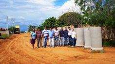 JORNAL CORREIO MS: FIGUEIRÃO, MS: Prefeito visita obras de drenagem n...