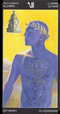 VII. The Chariot - Tattooed Tarot by Pietro Alligo, Cristiano Spadoni