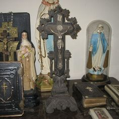 Antique 1860's French Cross by BlackDogMarket on Etsy