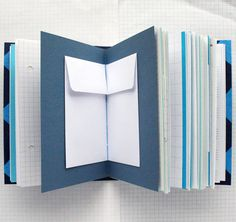 Things Blue Mixed Paper Journal 45 x 6 inch A6 by badbooks