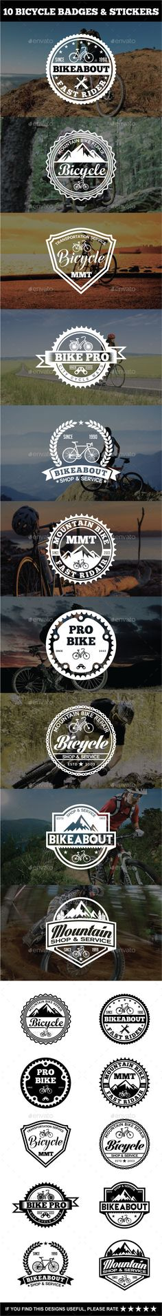 Sport Bicycle Badges & Stickers Template Vector EPS, AI #design Download: http://graphicriver.net/item/sport-bicycle-badges-stickers/14407335?ref=ksioks