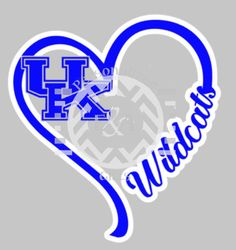 I Heart Car Decal UK Kentucky Wildcats by EAPersonalizedGifts
