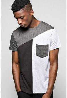 Spliced Pocket T Shirt
