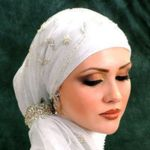 Gypsy Hijab-a.a Ponytail Hijab Style Hijab Wedding Dresses, Muslim Women Fashion, Islamic Fashion, Muslim Brides, Muslim Girls, Beautiful Muslim Women, Hijab Fashion, Women's Fashion, Woman Fashion