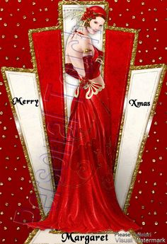 Art Deco Christmas Card, don't have a use but love the look! Me neither but I might print for framing.